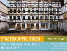 Flyer Stadtraumpolitiken